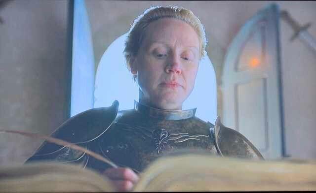Ser Brienne sporting Bran's new sigil.