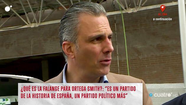 Risto Mejide afea el gesto de Ortega Smith (Vox) con las reporteras de 'Todo es mentira':