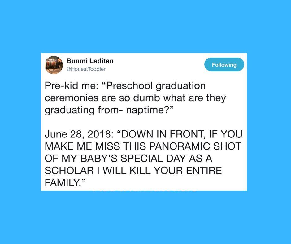 30 Funny Tweets About Preschool Graduations