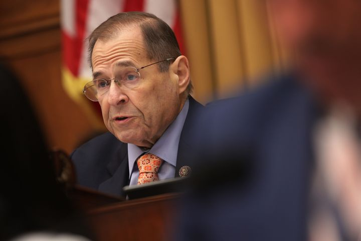 Chairman of U.S. House Judiciary Committee Rep. Jerry Nadler (D-N.Y.) speaks during a hearing in which former White House cou