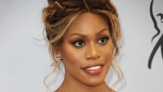 Jan 27, 2019; Los Angeles, CA, USA; Laverne Cox arrives at the 25th Annual Screen Actors Guild Awards at the Shrine Auditorium. Mandatory Credit: Dan MacMedan-USA TODAY NETWORK/Sipa USA