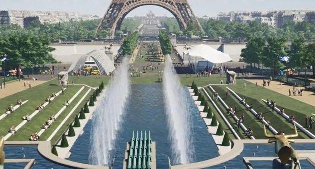 Les jardins de Chaillot réaménagés au pied de la tour
