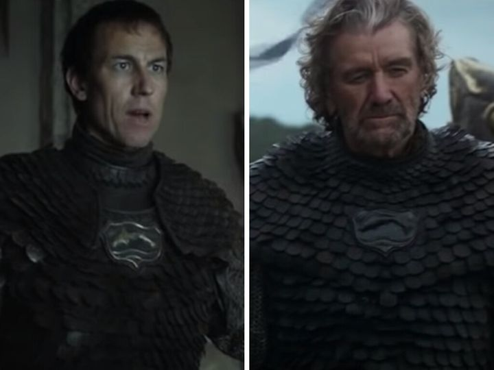 Edmure Tully (left); the Blackfish (right).