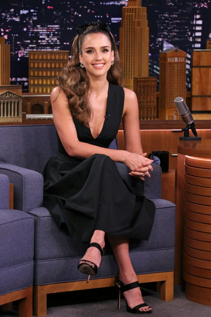 "Jessica Alba during an appearance on ""The Tonight Show"" with Jimmy Fallon on May 16."