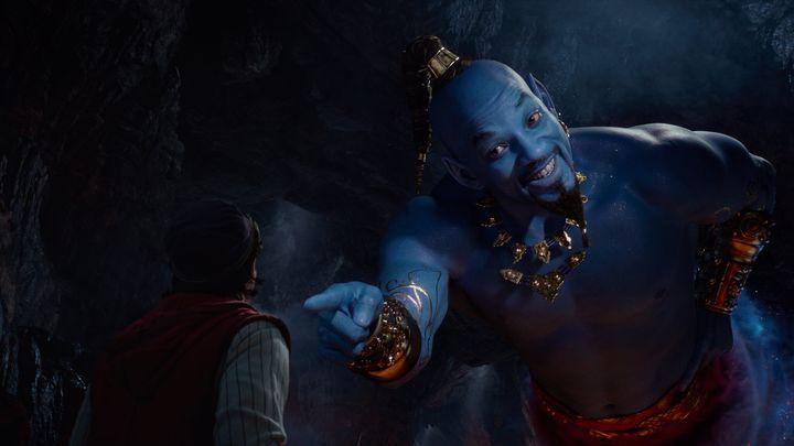 "A very blue Will Smith in ""Aladdin."""