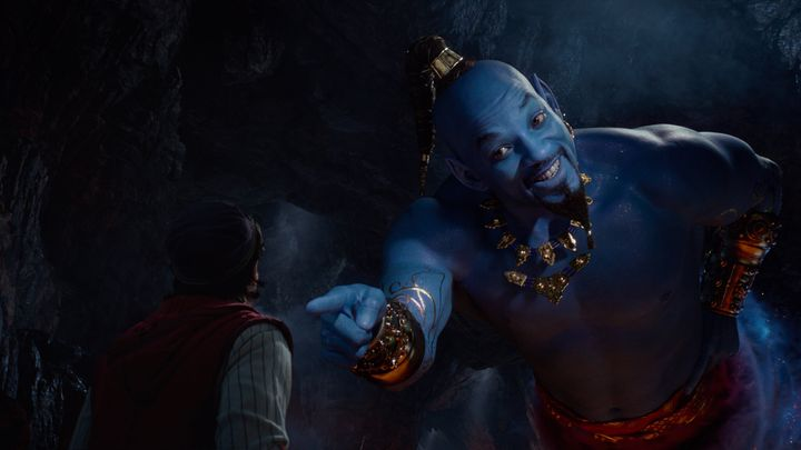 "A very blue Will Smith in ""Aladdin."""