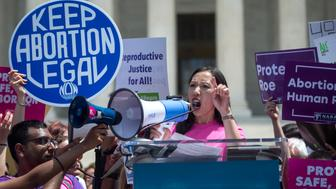 UNITED STATES - MAY 21: Dr. Leana Wen, president of Planned Parenthood, speaks at an abortion-rights rally at Supreme Court in Washington to protest new state bans on abortion services on Tuesday May 21, 2019. (Photo by Caroline Brehman/CQ Roll Call)