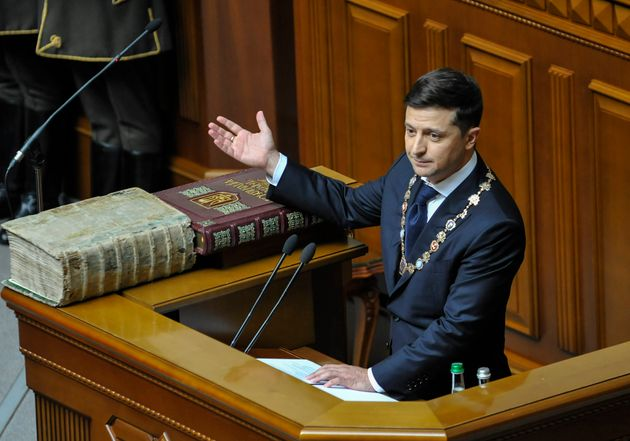 A few minutes after he was sworn in, President Zelenskiy dissolved Ukraine's parliament on May 20,