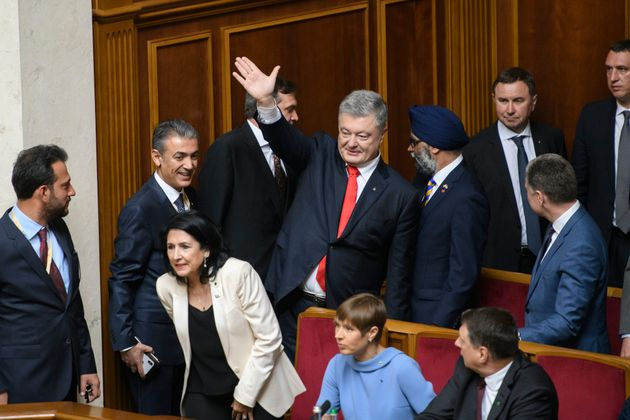 Ex-President Petro Poroshenko during inauguration of President-elect Volodymyr Zelensky in the Ukrainian...