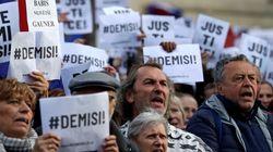 체코에서 4주째 반정부 시위가 열리고 있는