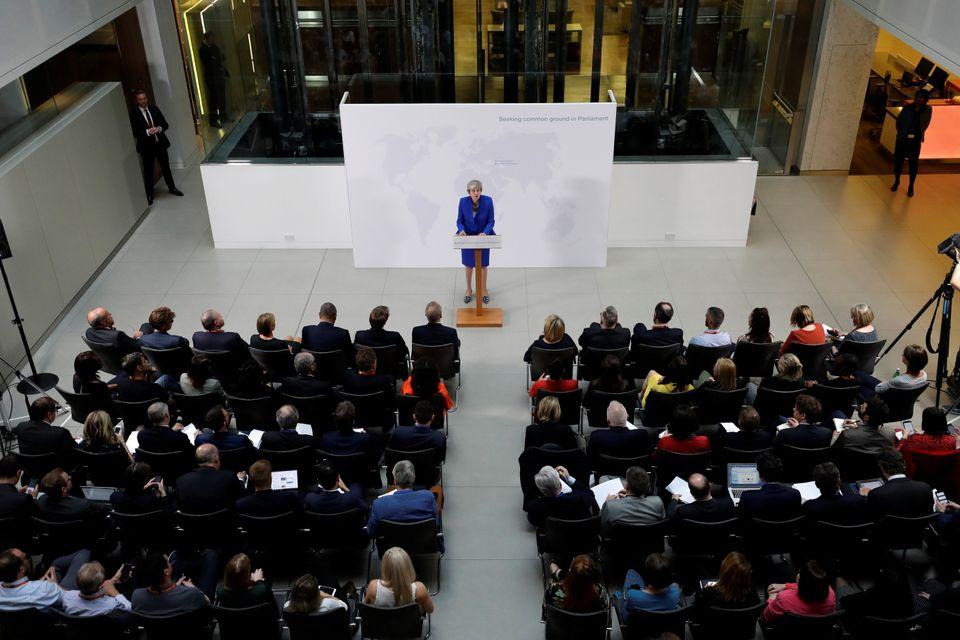 이것은 영국 테레사 메이 총리의 '마지막 브렉시트 연설'이었을