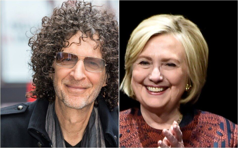 Howard Stern and Hillary Clinton