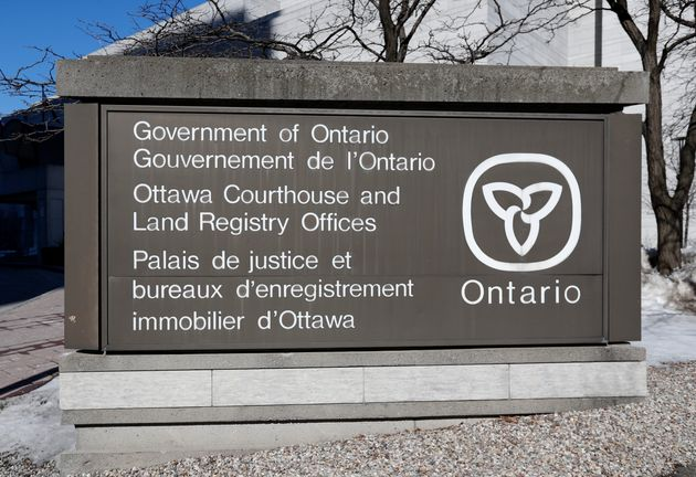 The outside of an Ontario government courthouse is seen here in Ottawa on March 27, 2019. The court case...