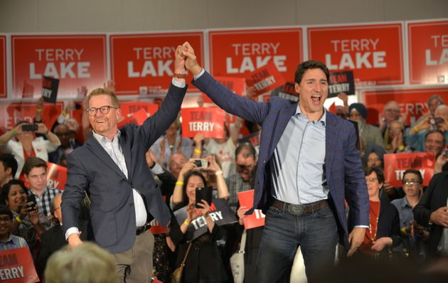 Liberal candidate Terry Lake and Prime Minister Justin Trudeau attend a Kamloops-Thompson-Cariboo Liberal...