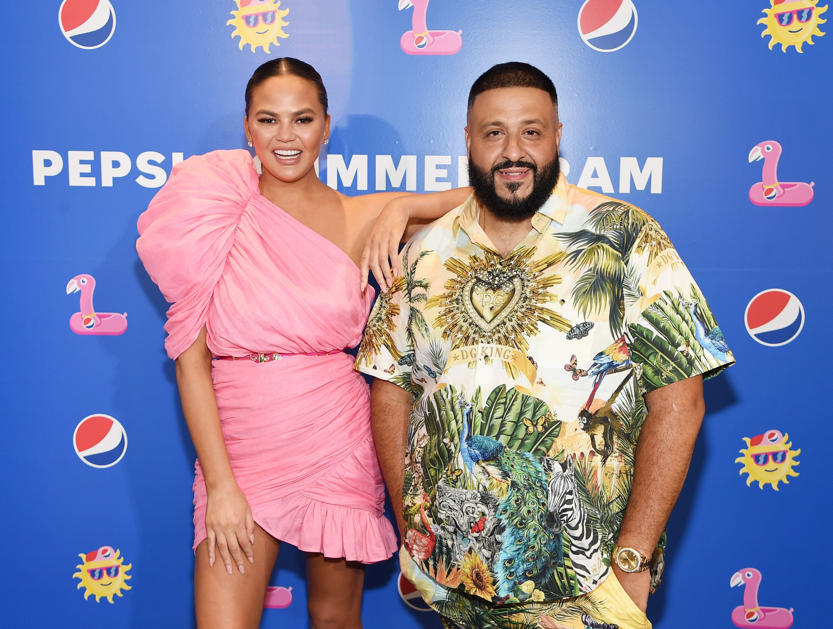 NEW YORK, NEW YORK - MAY 20: Chrissy Teigen and DJ Khaled host the Pepsi #Summergram Celebration featuring DJ set by DJ Khaled at Pier 17 on May 20, 2019 in New York City. (Photo by Jamie McCarthy/WireImage for Pepsi)