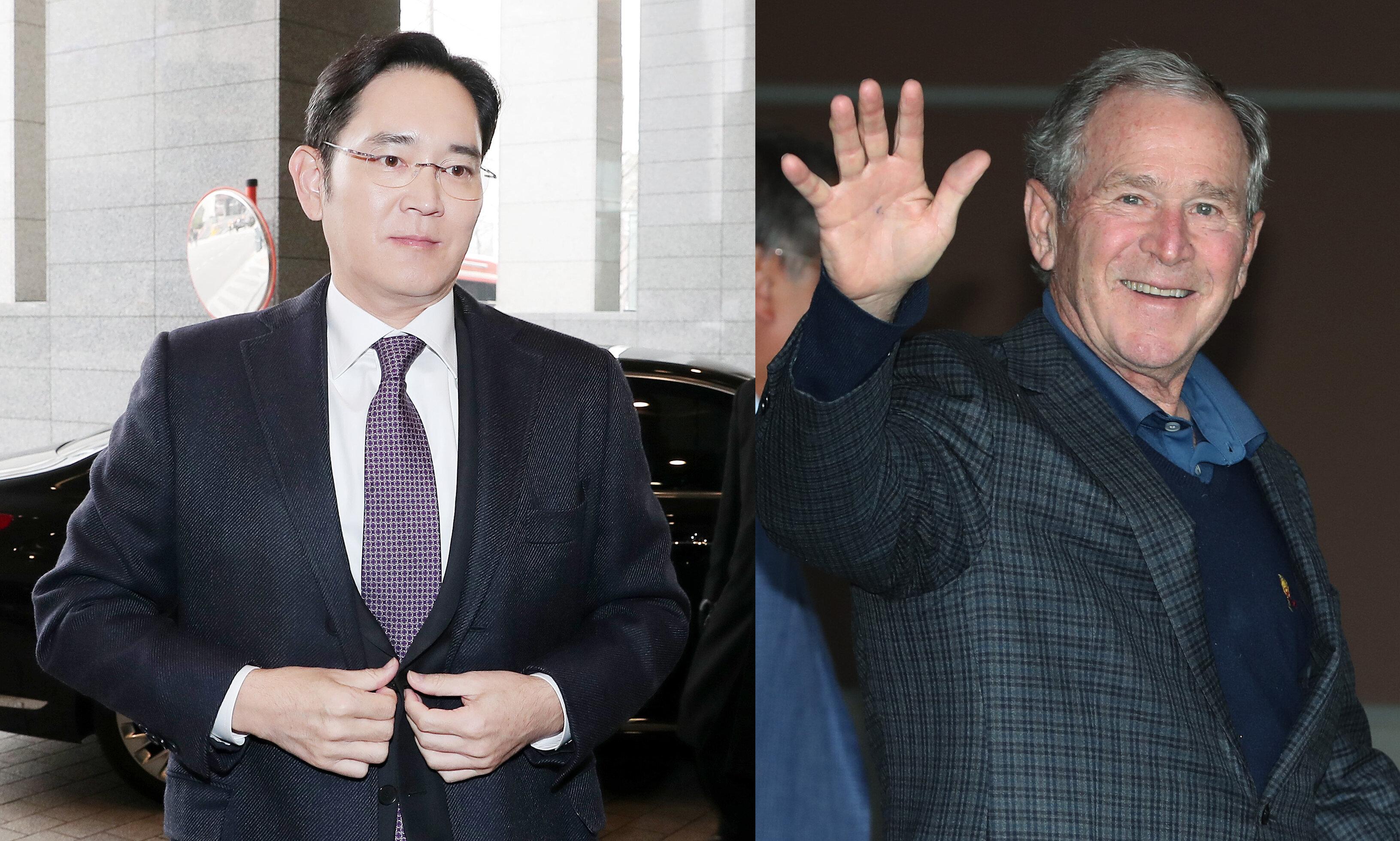 한국을 찾은 부시 전 대통령이 맨 처음으로 만난