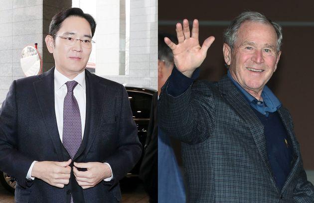한국을 찾은 부시 전 대통령이 처음으로 만난 사람은 이재용 삼성전자
