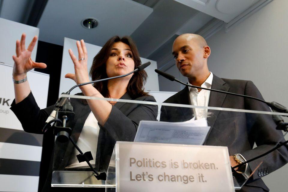 Heidi Allen, left, Change UK's