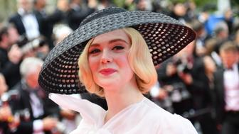 "US actress and member of the jury of the Cannes Film Festival Elle Fanning arrives for the screening of the film ""Once Upon a Time... in Hollywood"" at the 72nd edition of the Cannes Film Festival in Cannes, southern France, on May 21, 2019. (Photo by Alberto PIZZOLI / AFP)        (Photo credit should read ALBERTO PIZZOLI/AFP/Getty Images)"