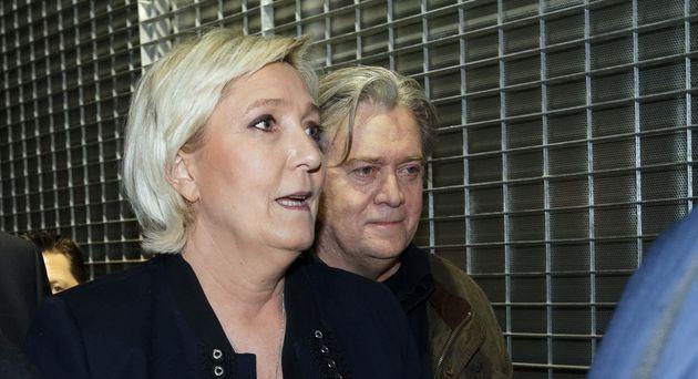 Steve Bannon avait été accueilli par Marine Le Pen lors du Congrès du Rassemblement...
