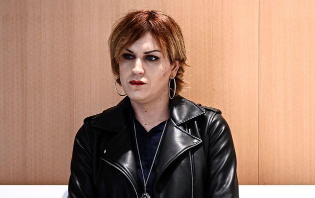 Julia Boyer attendant le début du procès de son agresseur au tribunal correctionnel de...