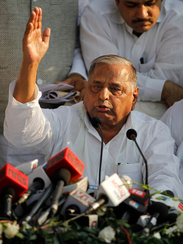 SP Patriarch Mulayam Singh in a file