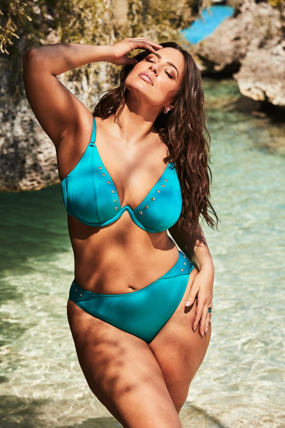 44802365a8 Ashley Graham's New Swimwear Line Features Her Sister In Sibling ...