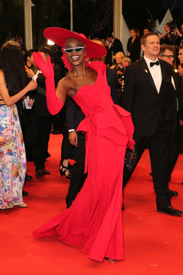 "The Miss Tanzania 2008 winner wears a dress by Fouad Sarkis for the screening of ""Parasite"" on May 21."