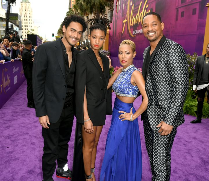 "The Smith family came out for the ""Aladdin"" premiere."