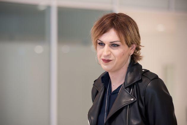 Julia Boyer au tribunal correctionnel de Paris en mai 2019 alors que se tient le procès de son
