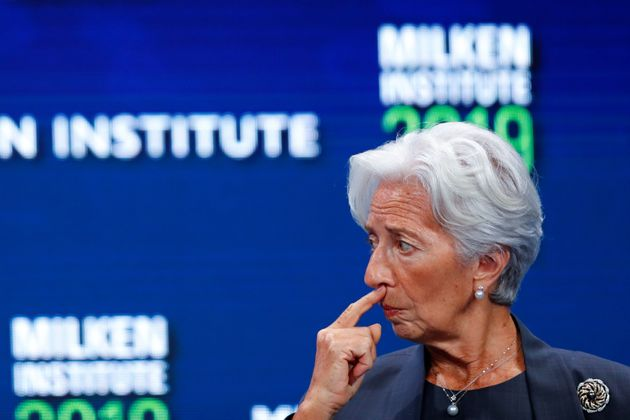 Christine Lagarde, managing director and chairwoman of the International Monetary Fund, at a conference...