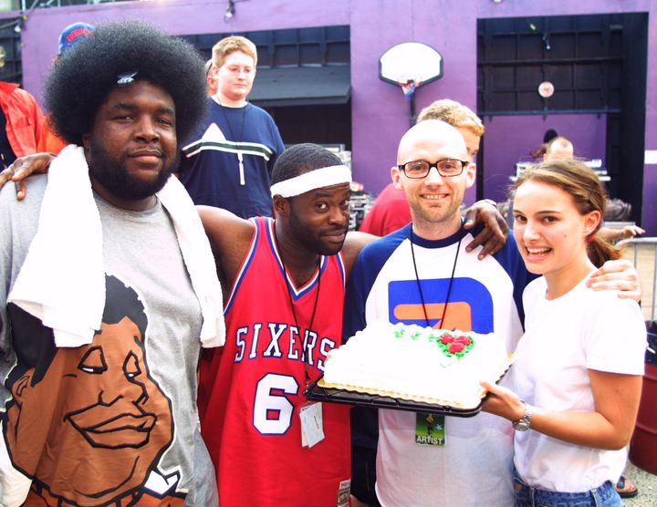 Moby and Portman with The Roots in the early 2000s.