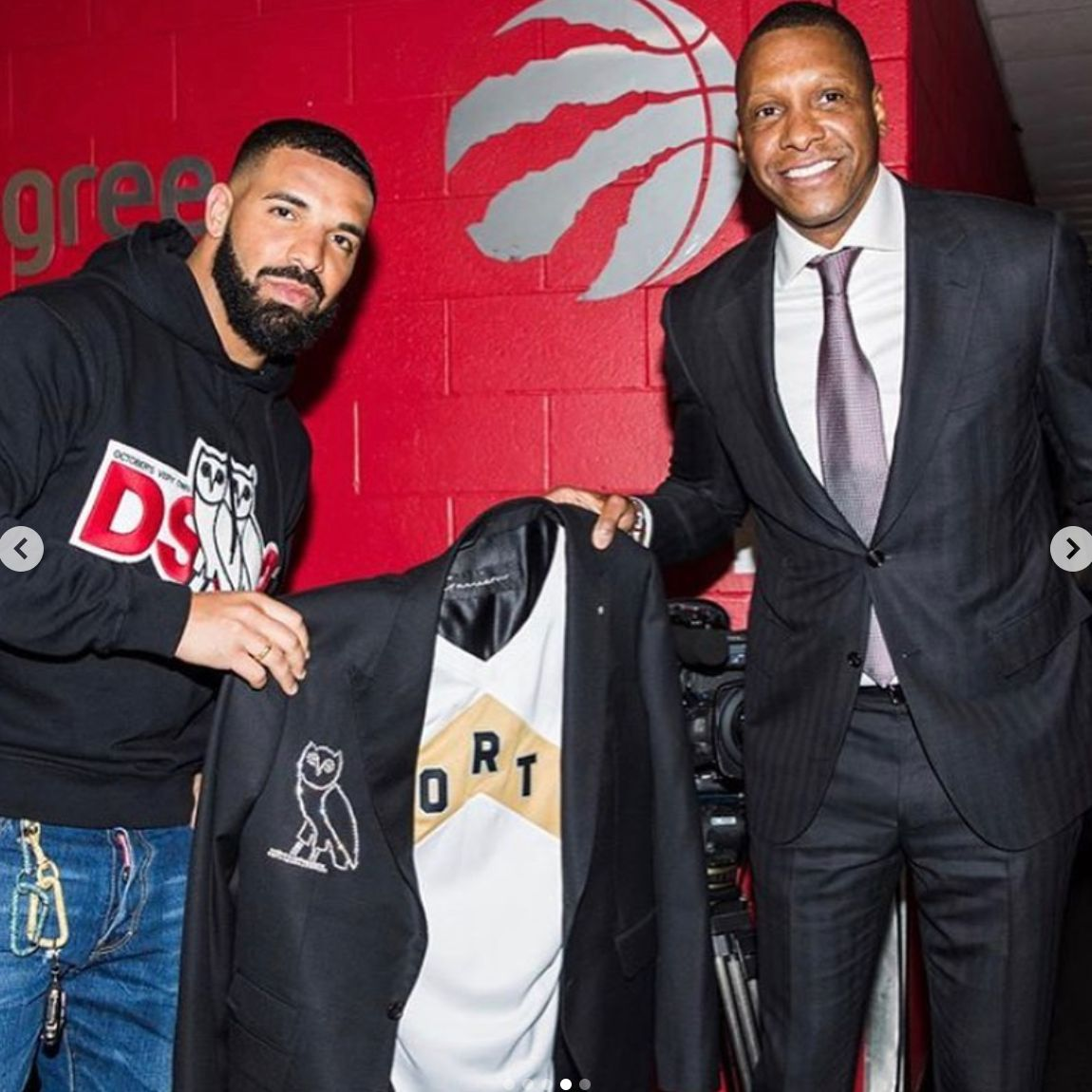 Toronto Designer Gifts Drake $769K Diamond Jacket At Raptors