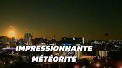 Une météorite a illuminé le ciel dans le sud de