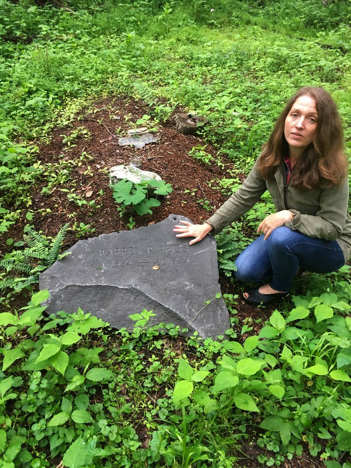 Green burials are on the rise. Town of Rhinebeck Cemetery committee chairwoman Suzanne Kelly points out a burial mound in the