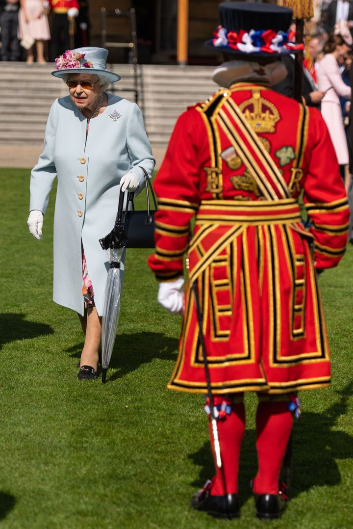 Queen Elizabeth II attending the Royal Garden Party.
