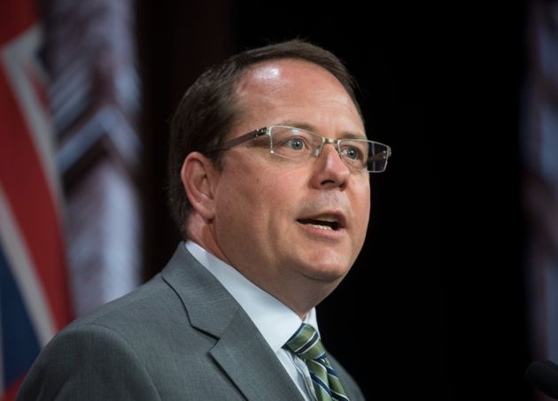 Ontario Green Party leader Mike Schreiner speaks at Queen's Park in Toronto on June 28