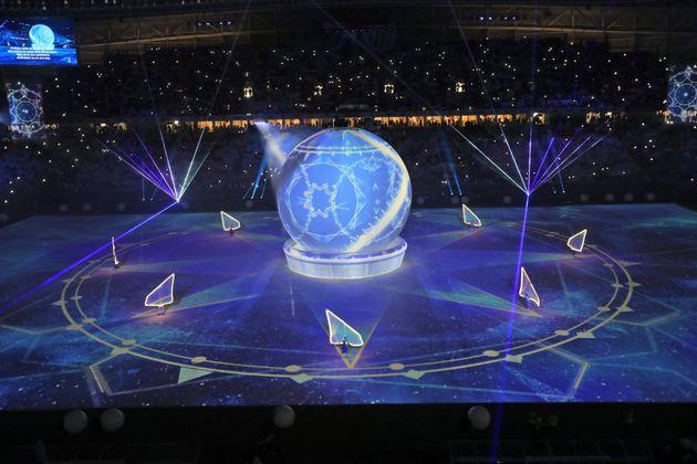 Cérémonie d'inauguration auAl Wakrah stadium, un des stades qui accueillera le Mondial...