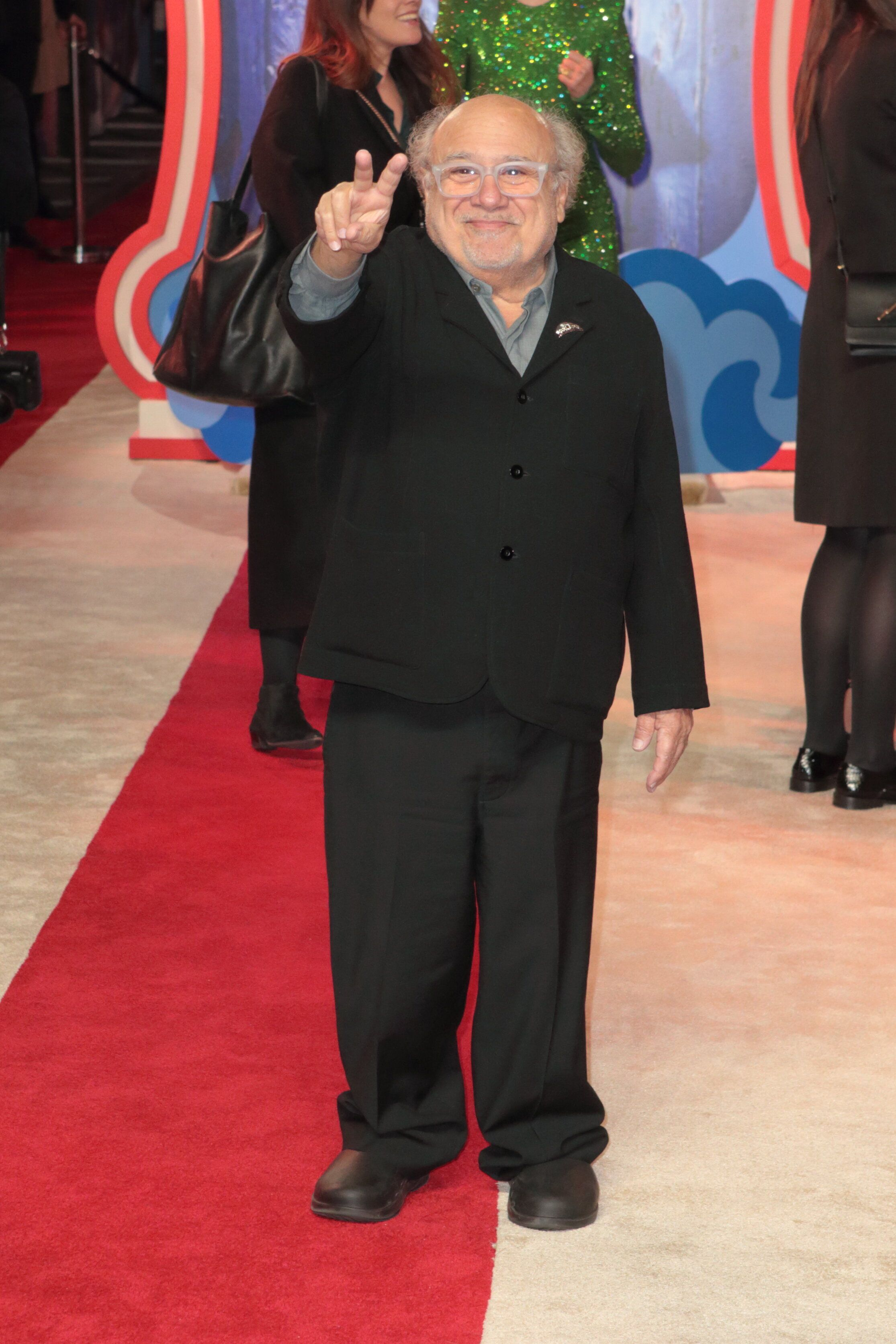 LONDON, UNITED KINGDOM - MARCH 21:                          Danny Devito arrives for the European Premiere of Dumbo at Curzon Mayfair LondonPHOTOGRAPH BY Jamy / Barcroft Images (Photo credit should read Jamy / Barcroft Media via Getty Images)