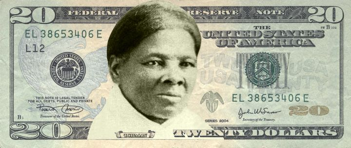 A rendering of Harriet Tubman on the $20, via Womenon20s.org