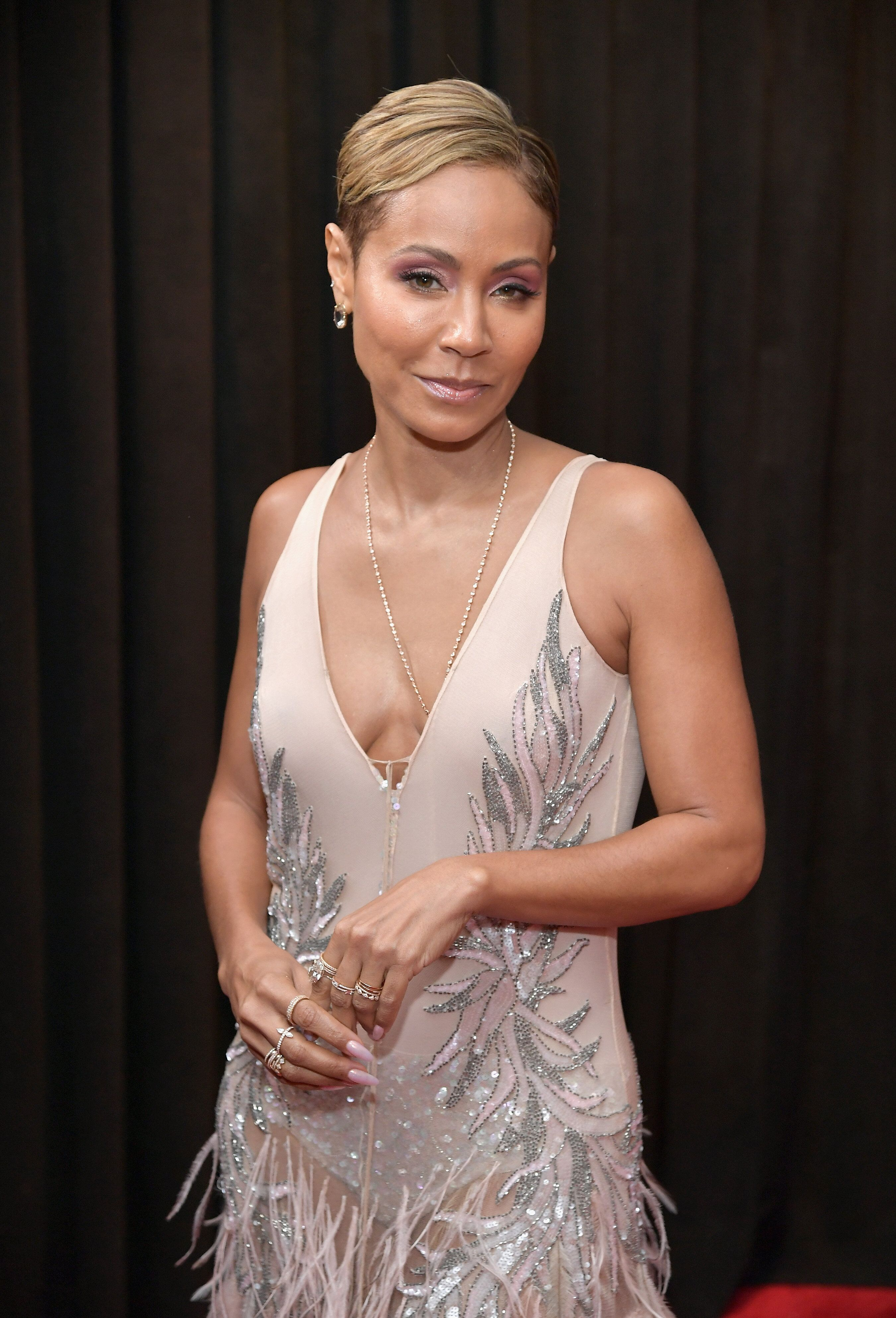 LOS ANGELES, CA - FEBRUARY 10:  Jada Pinkett Smith attends the 61st Annual GRAMMY Awards at Staples Center on February 10, 2019 in Los Angeles, California.  (Photo by Neilson Barnard/Getty Images for The Recording Academy)