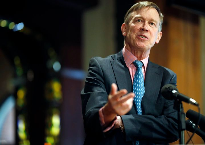 "John Hickenlooper, the former governor of Colorado, calls himself an ""extreme moderate."""