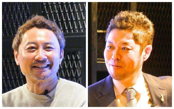 本田哲也さん(左)とハフポスト竹下隆一郎(右)