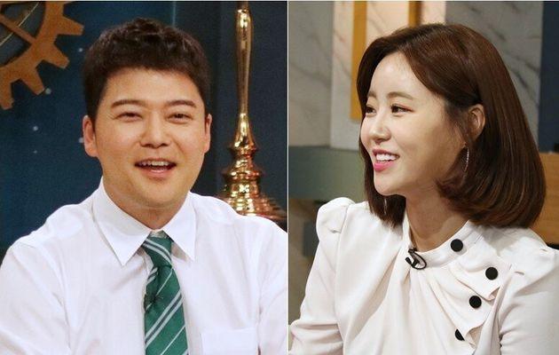 방송인 허송연이 전현무와 열애 중이라는 '찌라시'에 입을