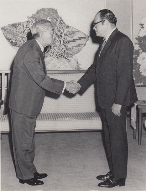 1975年、昭和天皇との会見