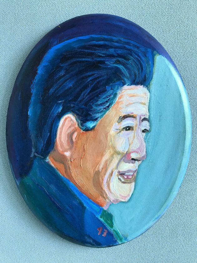 부시가 직접 그린 '故 노무현 전 대통령 초상화'가 공개됐다