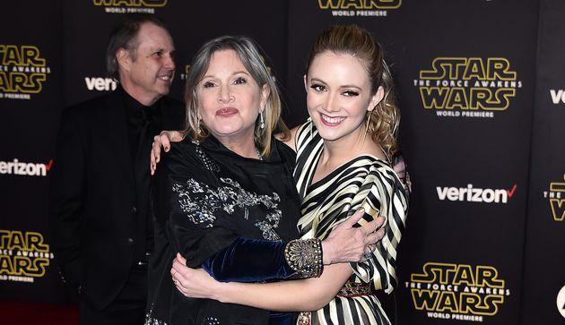 Carrie Fisher et sa fille Billie Lourd partageront des scènes dans Stars Wars