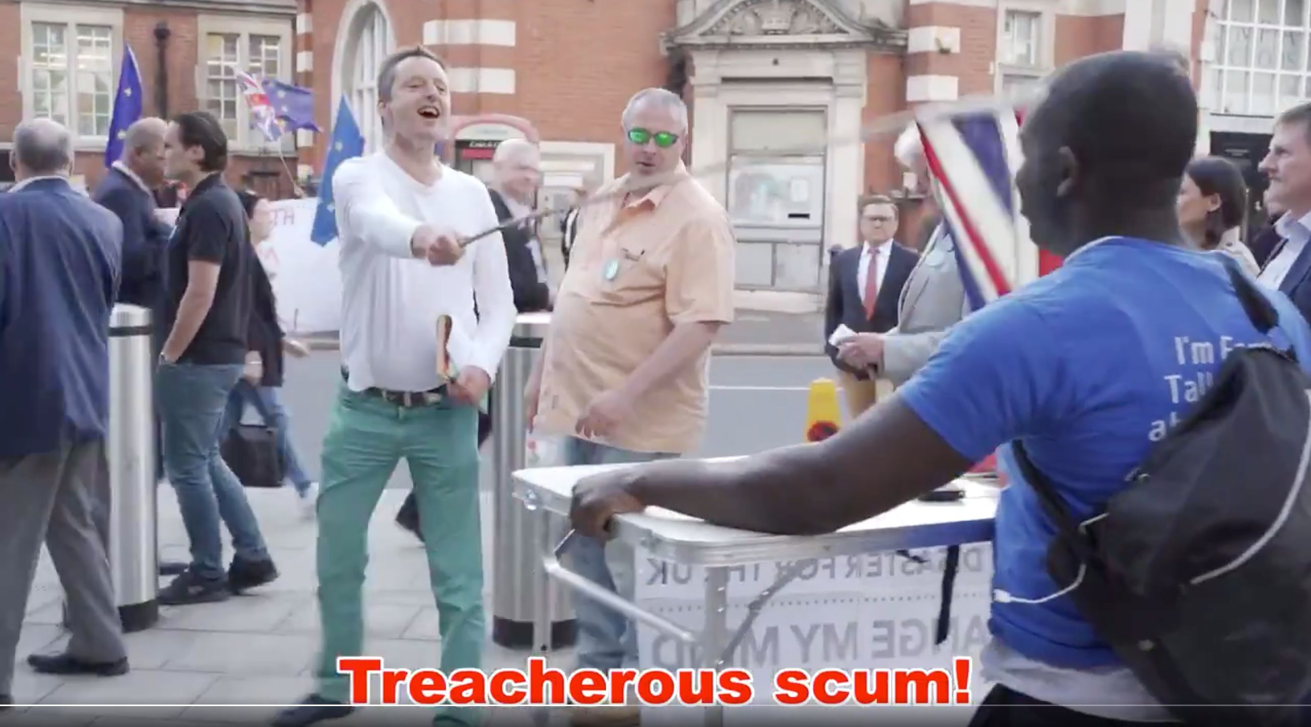 Academic Dr Niall McCrae Filmed Calling Remain Activist 'A F***ing Traitor' During Brexit Rally