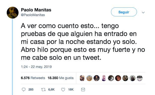 Paolo Manitas: este usuario pone en vilo a medio Twitter con su escalofriante