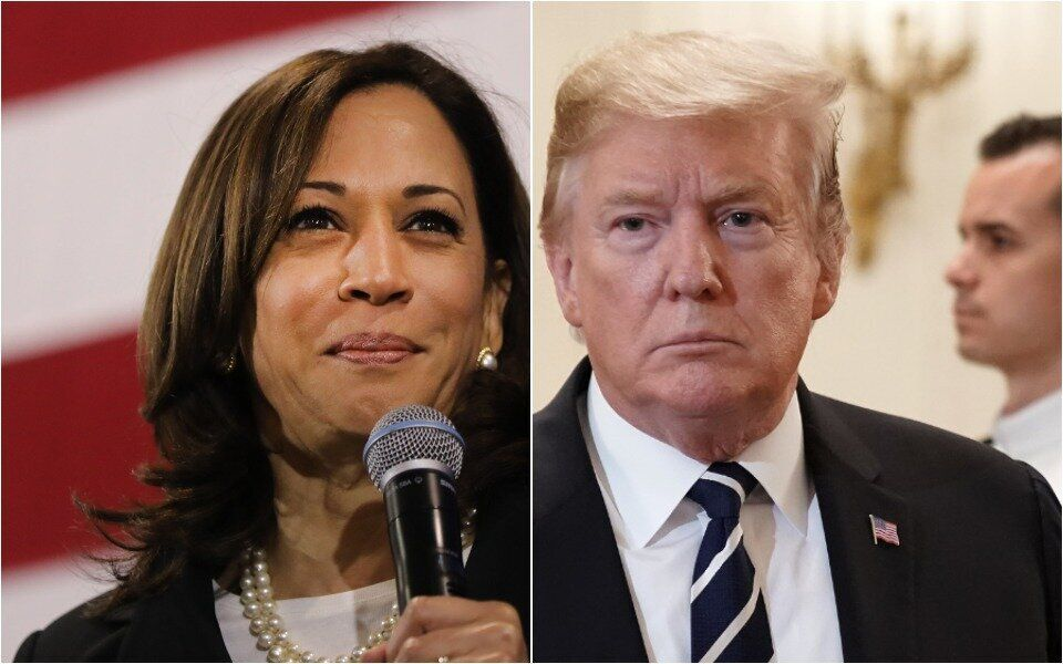 Kamala Harris and Donald Trump